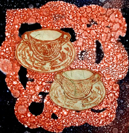 teacup and vase-monoprint TCS HighteaExhib Dec2017-6