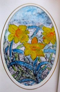 fine art daffodils cards